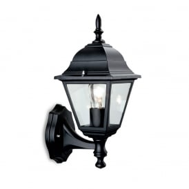 Panel Outdoor Uplight Wall Lantern In Black Finish E200