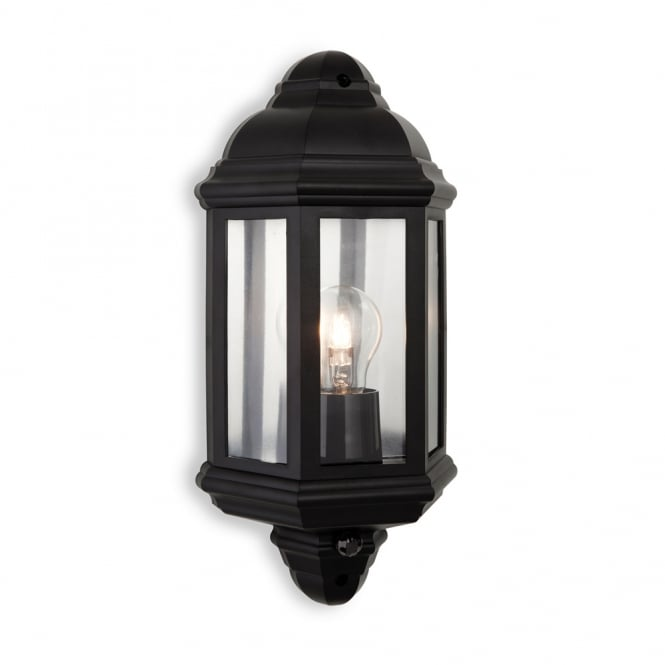 Firstlight Park Outdoor Wall Light With In Black PIR 8656