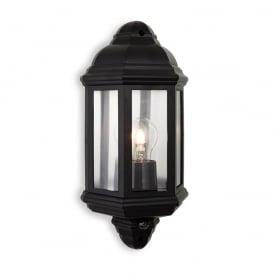 Park Outdoor Wall Light With In Black PIR 8656