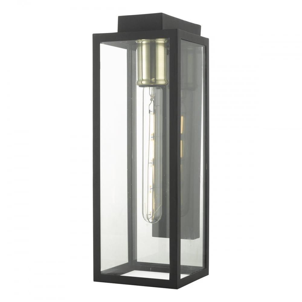 Parker Modern Outdoor Wall Lantern In Matt Black Finish Par1522 Lighting From The Home Lighting Centre Uk