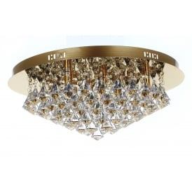 Parma 8 Light Crystal Ceiling Flush Light In Gold Finish CFH011025/08/G