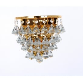 Parma Single Crystal Wall Light In Gold Finish CFH011025/01/WB/G