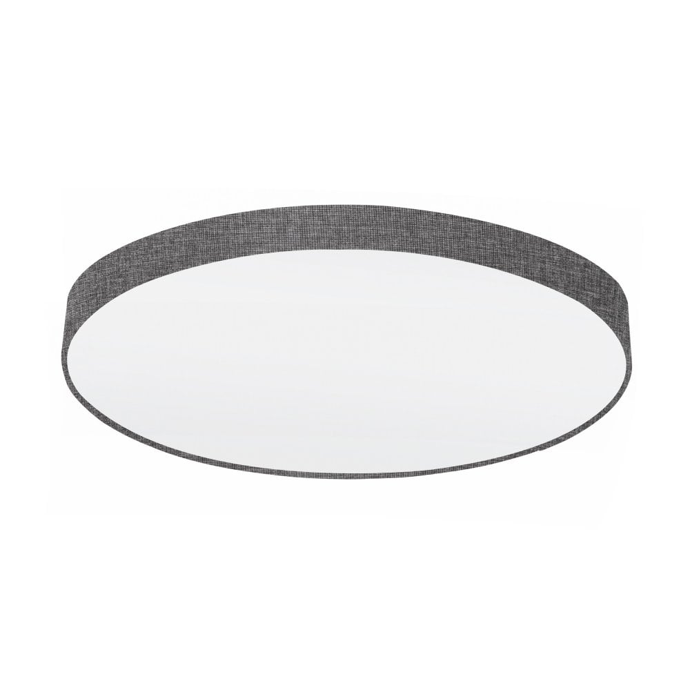 best service f119c f45f8 Pasteri Extra Large Flush Ceiling Light In Grey And White Finish 97622