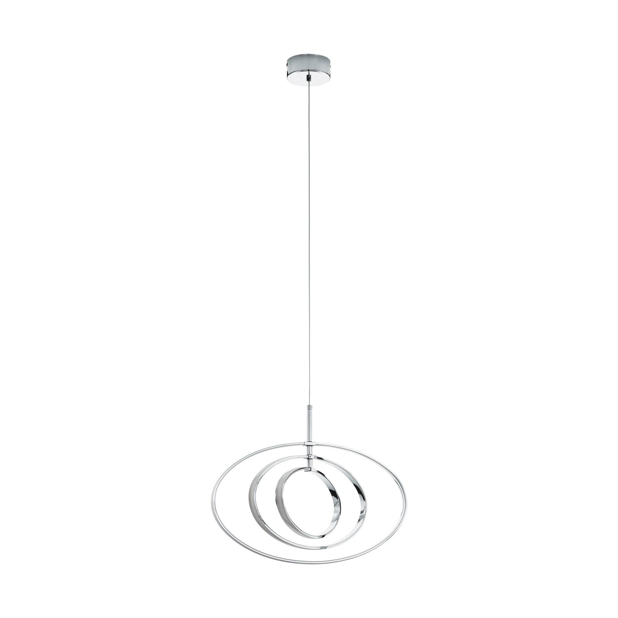 Eglo Lighting Pausia Modern Led Ceiling Pendant Light In Polished Chrome Finish 97435 Lighting From The Home Lighting Centre Uk