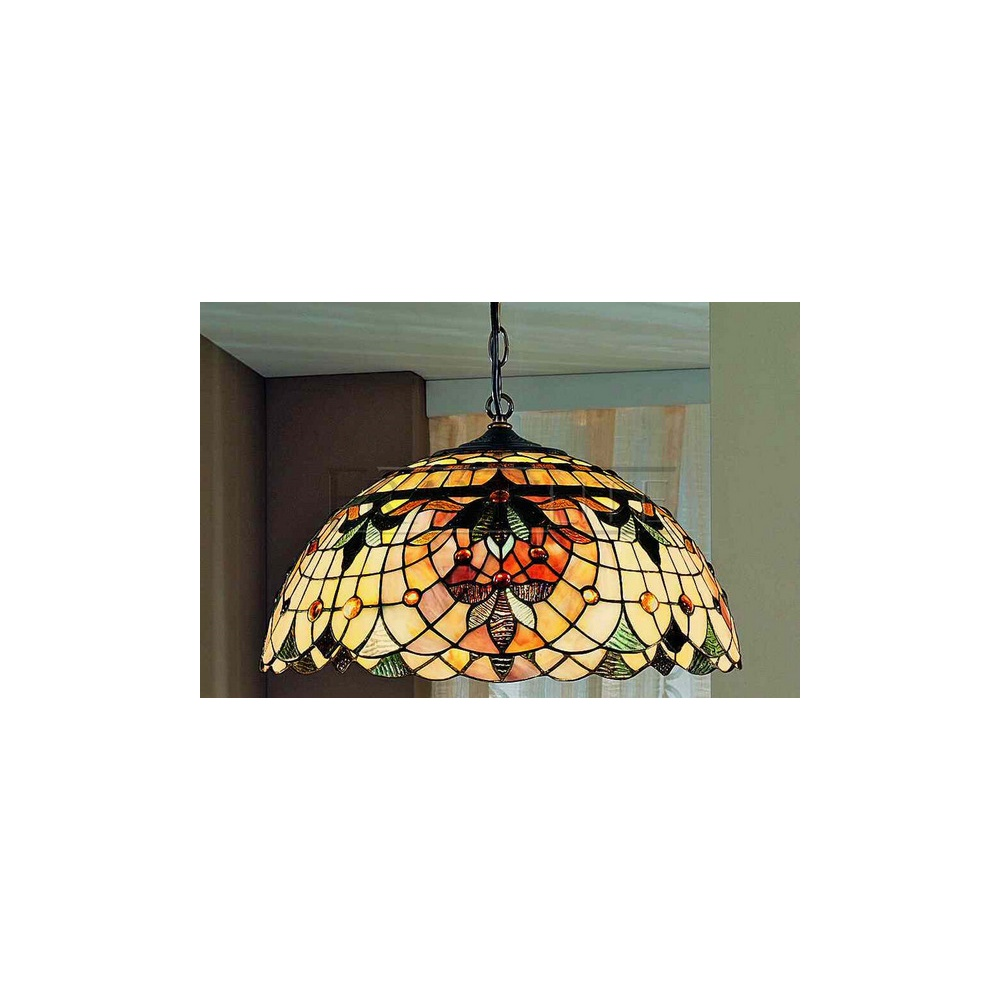 Chicago Lighting Company: Franklite Lighting PCH93 And T114 Chicago Tiffany 3 Light