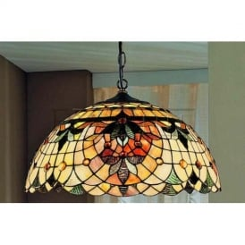PCH93 and T114 Chicago Tiffany 3 Light Ceiling Pendant