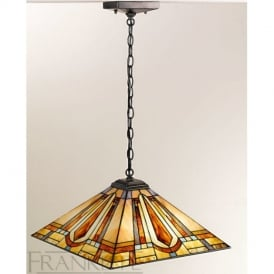PCH98 and T129 Charleston Tiffany Pendant Ceiling Light