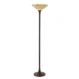Living room tiffany floor lamps pearl traditional tiffany floor uplighter with geometric design 64299 mozeypictures Images