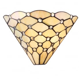 Pearl Traditional Tiffany Wall Light With Geometric Design 64302