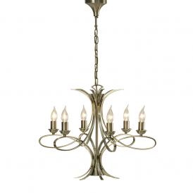 Penn 6 Light Stylish Chandelier in Brushed Brass Finish CA7P6BB