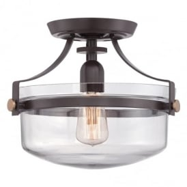 Penn Station Semi Flush Ceiling Light In Western Bronze Finish QZ/PENNSTAT/F WT