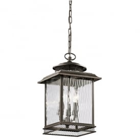 Pettiford Outdoor Vintage Large Ceiling Chain Lantern In Olde Bronze Finish KL/PETTIFORD8