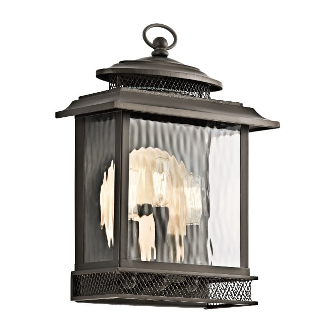 Elstead Pettiford Outdoor Vintage Large Wall Lantern In Olde Bronze Finish KL/PETTIFORD/L