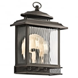 Pettiford Outdoor Vintage Large Wall Lantern In Olde Bronze Finish KL/PETTIFORD/L