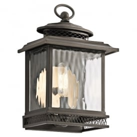 Pettiford Outdoor Vintage Small Wall Lantern In Olde Bronze Finish KL/PETTIFORD/S