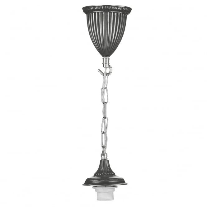 David Hunt Lighting Pewter Single Chain Ceiling Suspension BAD6567