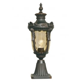 Philadelphia Distinctive Medium Outdoor Pedestal Lantern In Old Bronze Finish PH3/M OB