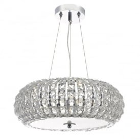 Piazza 3 Light Crystal Ceiling Pendant Light PIA0350