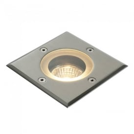 Pillar Exterior Ground Square Recessed Light in Polished Stainless Steel IP65 GH88042V