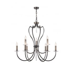 Pimlico Elegant Ceiling Chandelier Fitting In Dark Bronze Finish PM9 DB