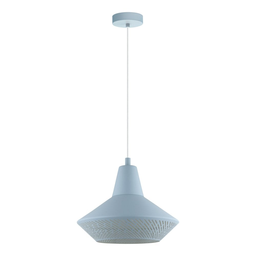 Eglo Lighting Piondro P Contemporary Ceiling Pendant Light In Light Blue Finish 49073 Lighting From The Home Lighting Centre Uk