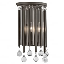 Piper Delicate Twin Wall Light In Espresso Finish KL/PIPER2
