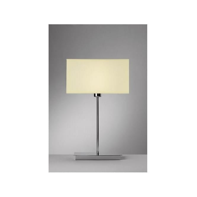 Dar Lighting PIZ4050 Piza Table Lamp with option of Cream Shade