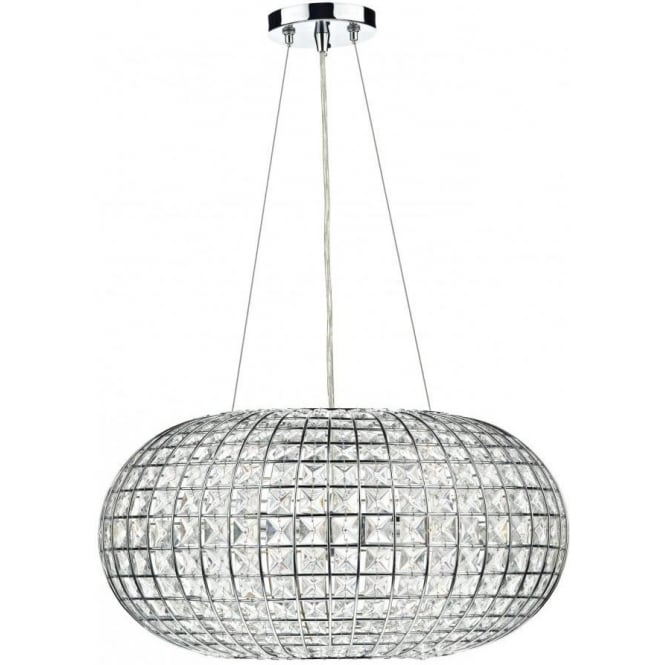 Dar Lighting PLA0350 Plaza Crystal Pendant Light