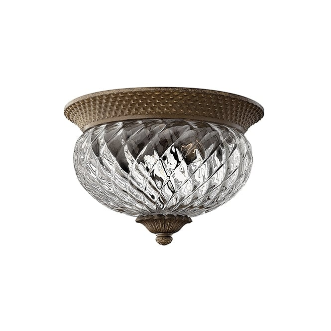 Hinkley Plantation Decorative 2 Light Ceiling Flush Light In Pearl Bronze Finish HK/PLANT/F/S PZ