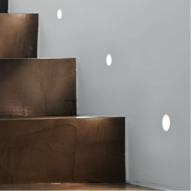 Astro Lighting Plastered-In Marker Wall Light In White Finish LEROS TRIMLESS 7418