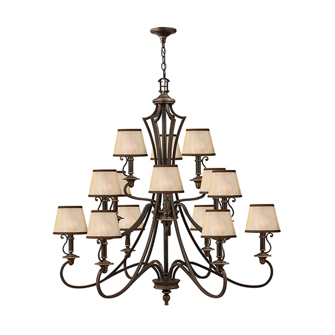 Hinkley Plymouth 15 Light Ceiling Chandelier In Old Bronze Finish HK/PLYMOUTH15