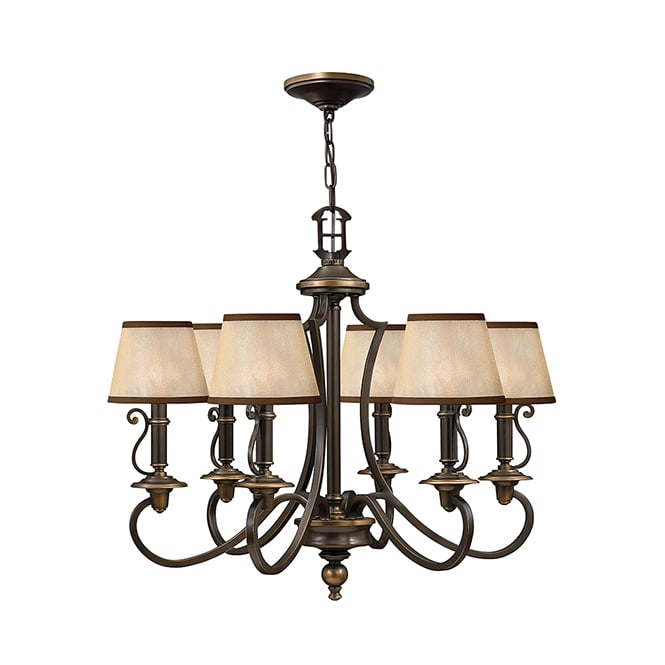 Hinkley Plymouth 6 Light Chandelier In Old Bronze Finish HK/PLYMOUTH6