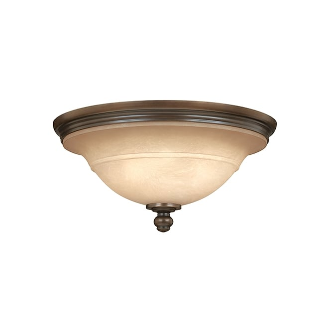 Hinkley Plymouth Flush Ceiling Light In Old Bronze Finish HK/PLYMOUTH/F