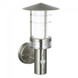 Pogoda PIR Exterior Wall Light In Brushed Stainless Steel Finish IP44 13924
