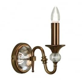 Polina Single Wall Light In Antique Brass Finish LX124W1B