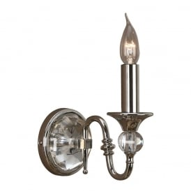 Polina Single Wall Light In Polished Nickel Finish LX124W1N