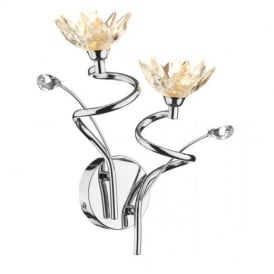 Poppy Two Light Wall Fitting In Chrome POP0950