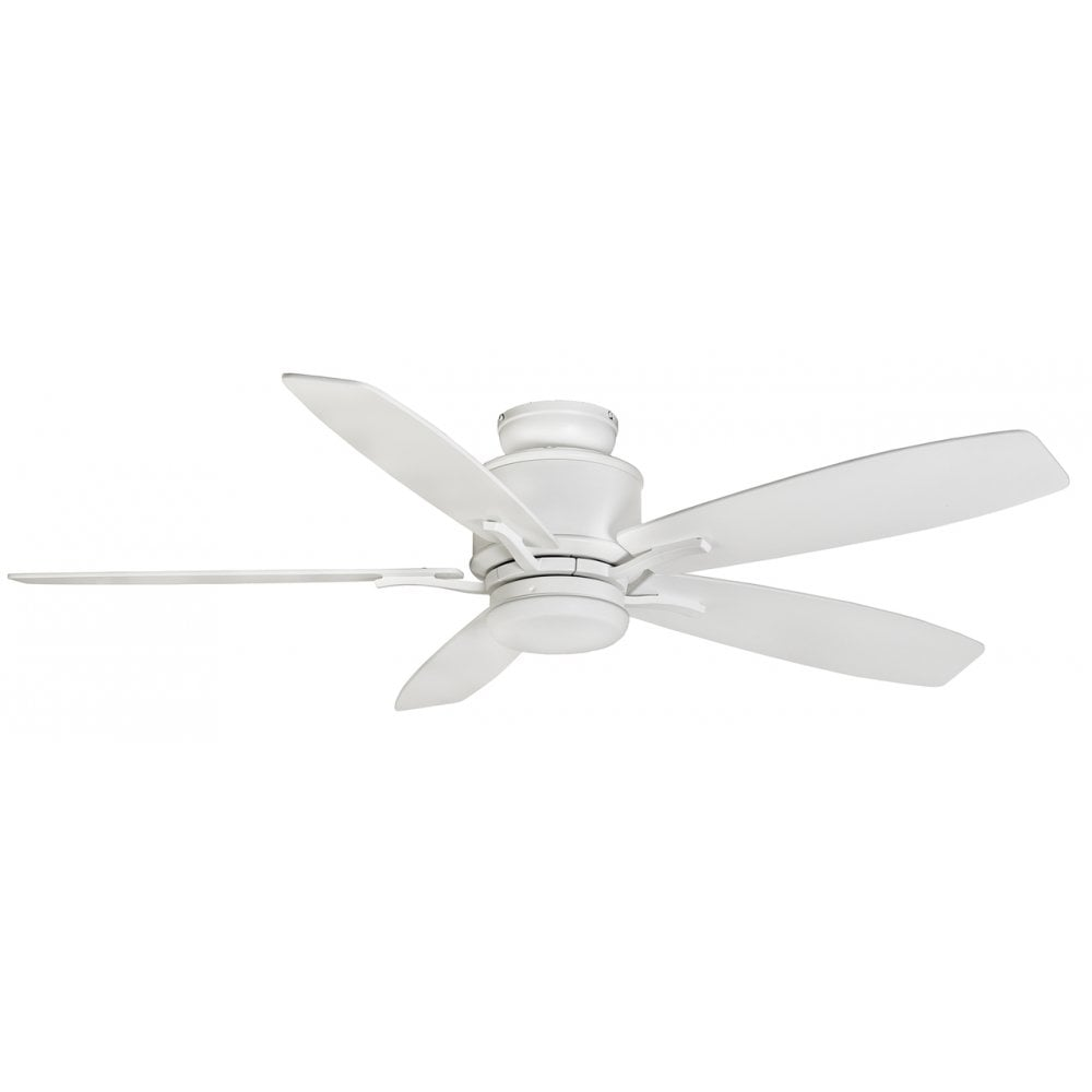 Fantasia Prima 52 Remote Control 5 Blade Ceiling Fan In White Finish With Led Light 117162 Lighting From The Home Lighting Centre Uk
