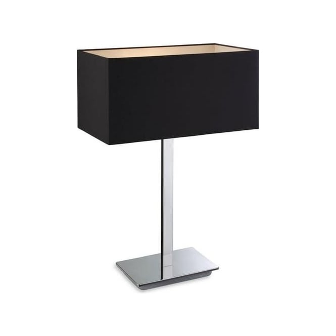 Firstlight Prince 1 Light Polished Stainless Steel Table Lamp 8329