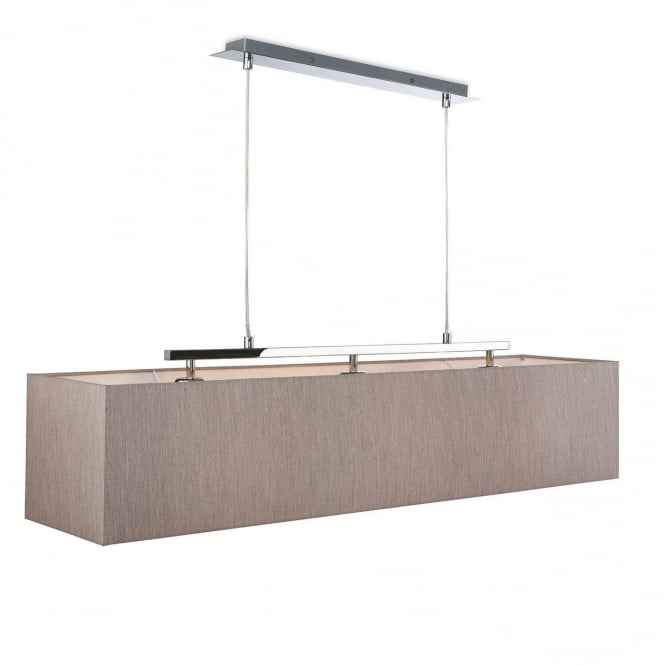 Firstlight Prince Modern 3 Light Ceiling Pendant With Rectangular Oyster Shade 2325