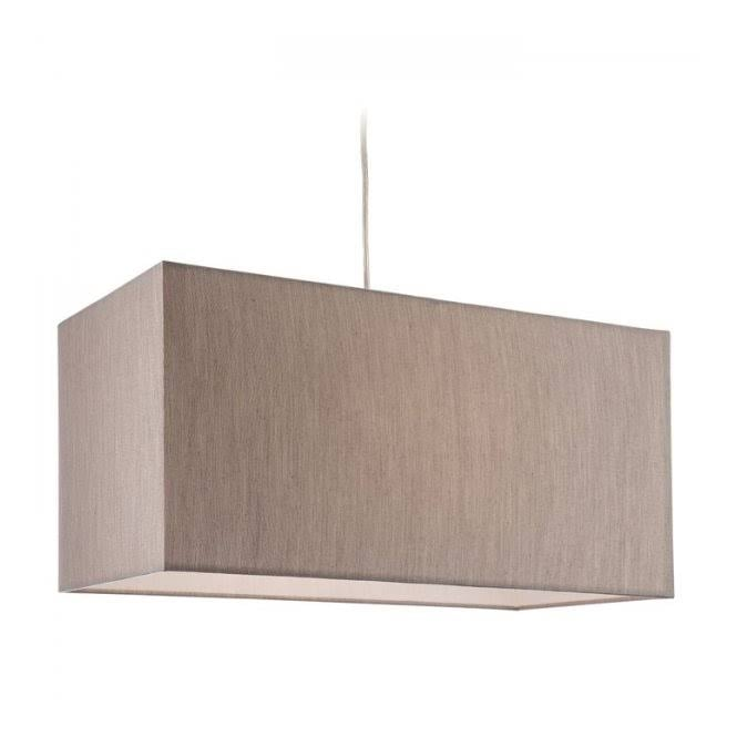 Firstlight Prince Modern Single Ceiling Pendant Light With Rectangular Oyster Shade 8609