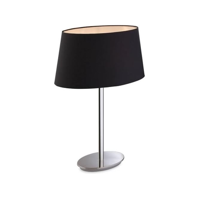 Firstlight Princess 1 Light Polished Stainless Steel Table Lamp 8328