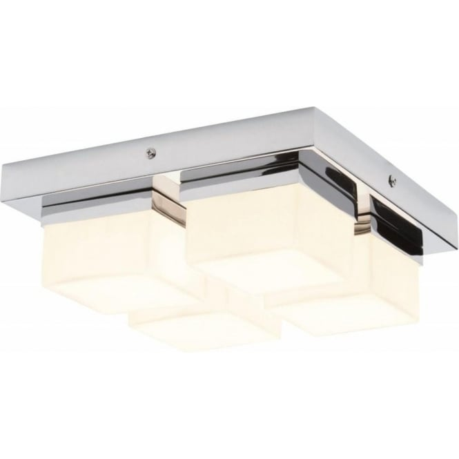 lighting 34277 square 4 light bathroom chrome flush ceiling light