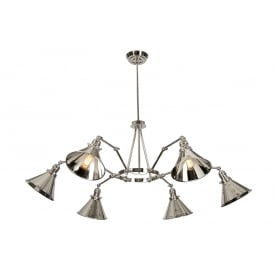 Provance 6 Arm Ceiling Pendant In Polished Nickel Finish PV6 PN