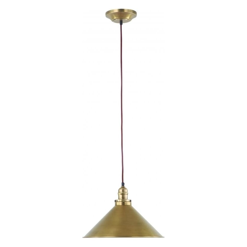 Elstead Provence French Style Pendant Light In Aged Brass PV SP AB Lighting