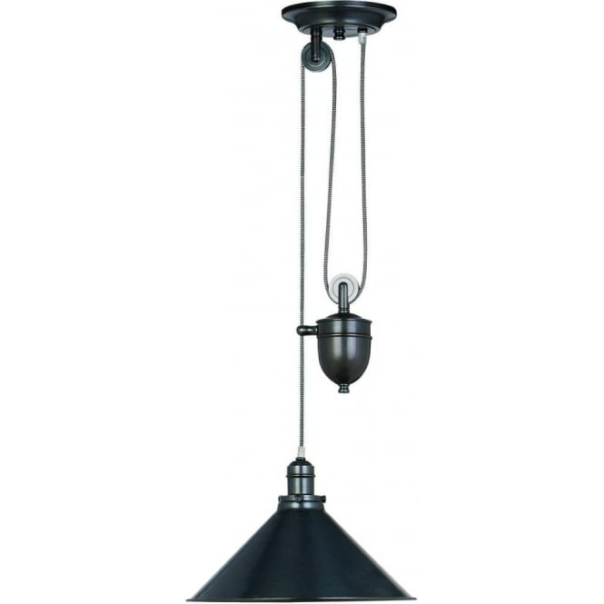 Elstead PROVENCE OB French style rise and fall ceiling pendant in Bronze