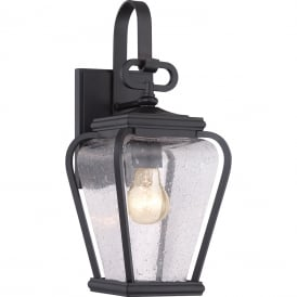 Province Outdoor Small Wall Lantern In Mystic Black Finish QZ/PROVINCE2/S