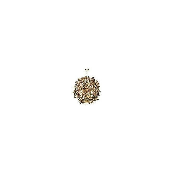 PUC1235 Puccini 12 Light Metallic Gold Pendant