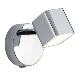 Quad Modern Wall Spotlight In Chrome Finish With Frosted Glass 4231CC