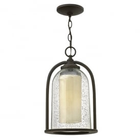 Quincy Outdoor Ceiling Chain Lantern In Oil Rubbed Bronze Finish HK/QUINCY8/M